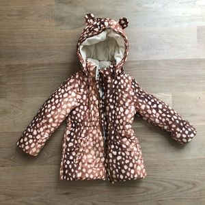 H&M winter coat size 4/5 years vguc